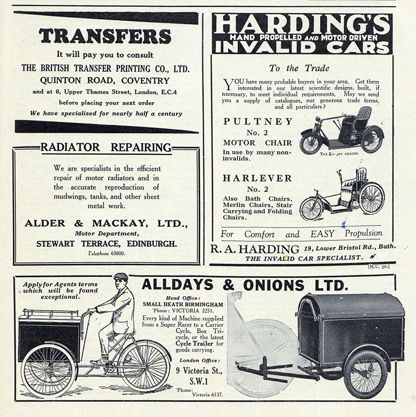 1950 Harding Netley Rotary Tricycle The Online Bicycle