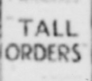 tall orders 2