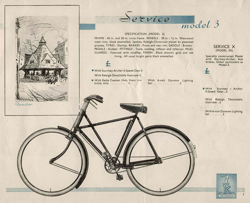 1935 Raleigh All-Steel Irish X Frame | The Online Bicycle Museum