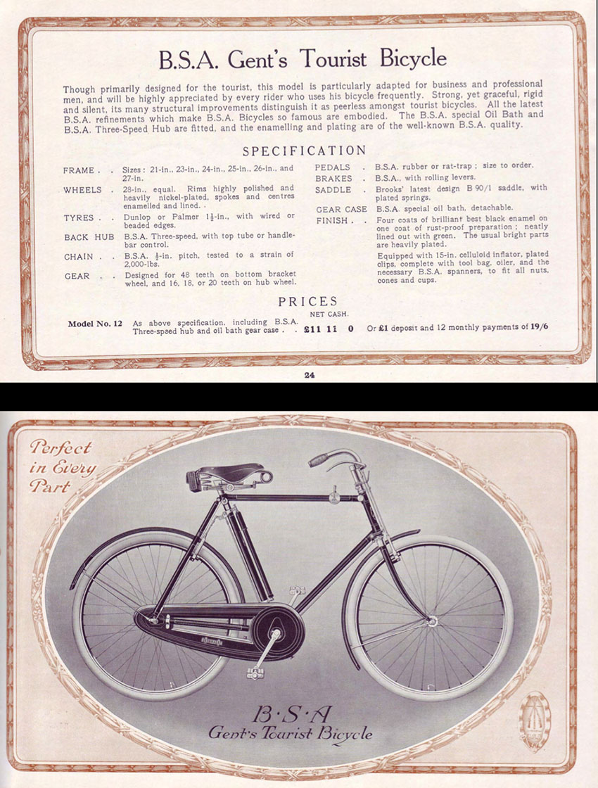 1915 bsa gents tourist ww1