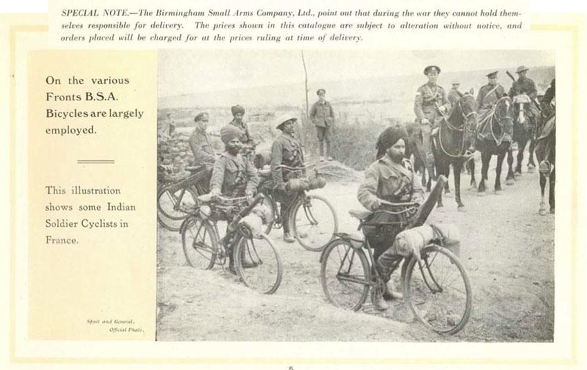 BSA 1914 CATALOGUE WW1