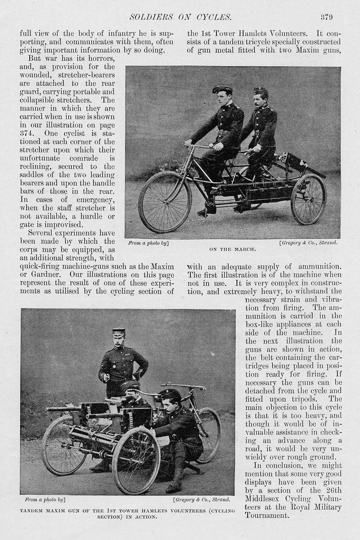 WW1 Maxim Tandem Tricycle 20
