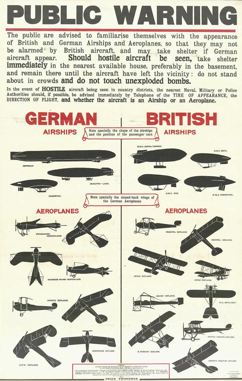 WW1 zeppelin raid london 1915