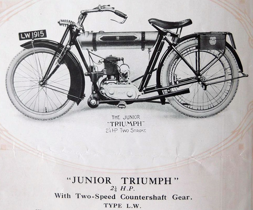 1923 triumph model lw 'junior' 250cc 2-speed | the online bicycle