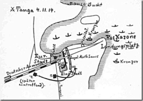 BATTLE OF TANGA WW1