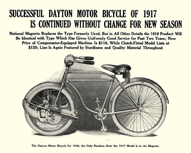 DAYTON MOTOR BICCYLE 1917