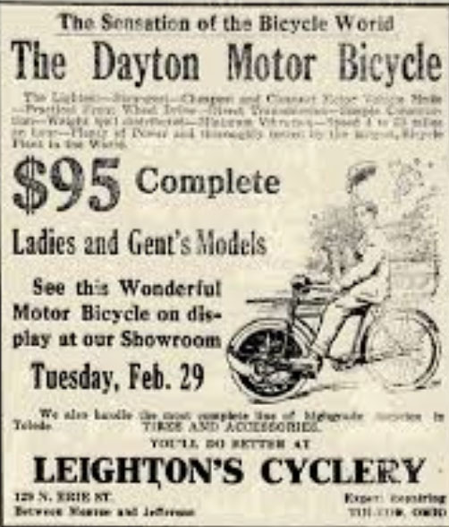dayton motor bicycle 1916