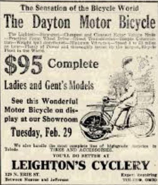 dayton motor bicycle 1916