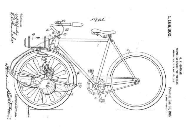 motor bicycle patent