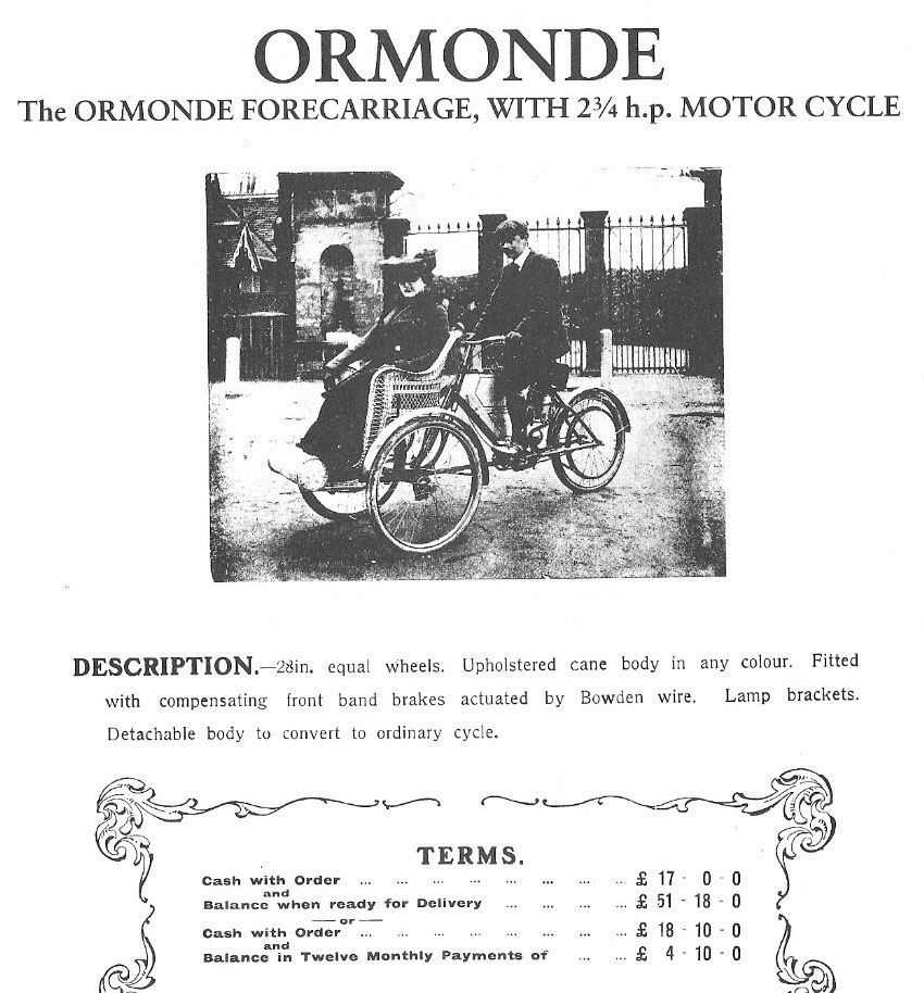 ormonde forecarriage 1903