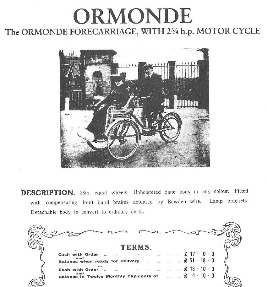 ormonde forecarriage 1903