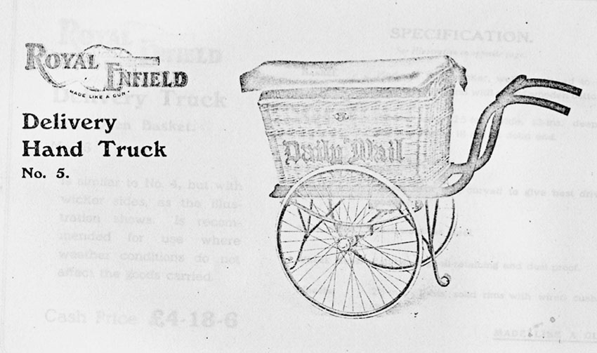 royal enfield daily mail hand truck