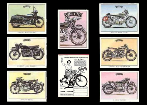 vincent motorcycle range