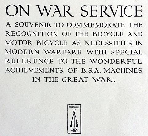 BSA On War Service