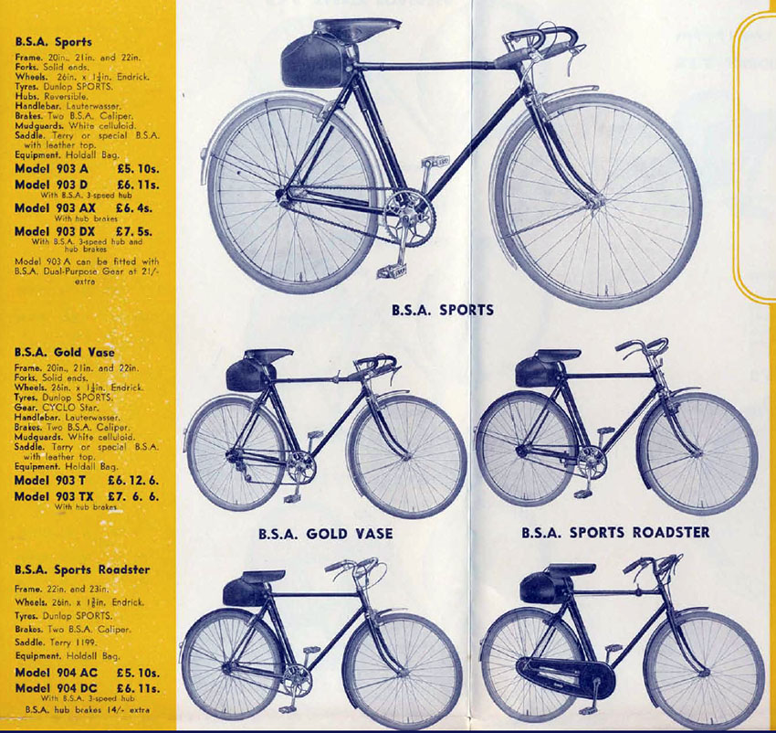 1938 BSA catalogue