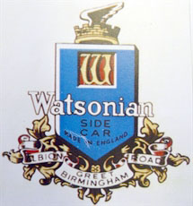 watsonian sidecar decal