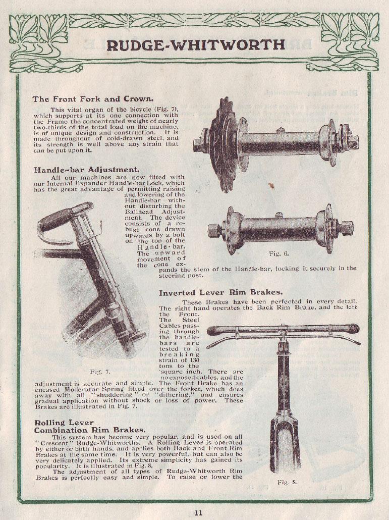 1906 Rudge Aero coupled brakes