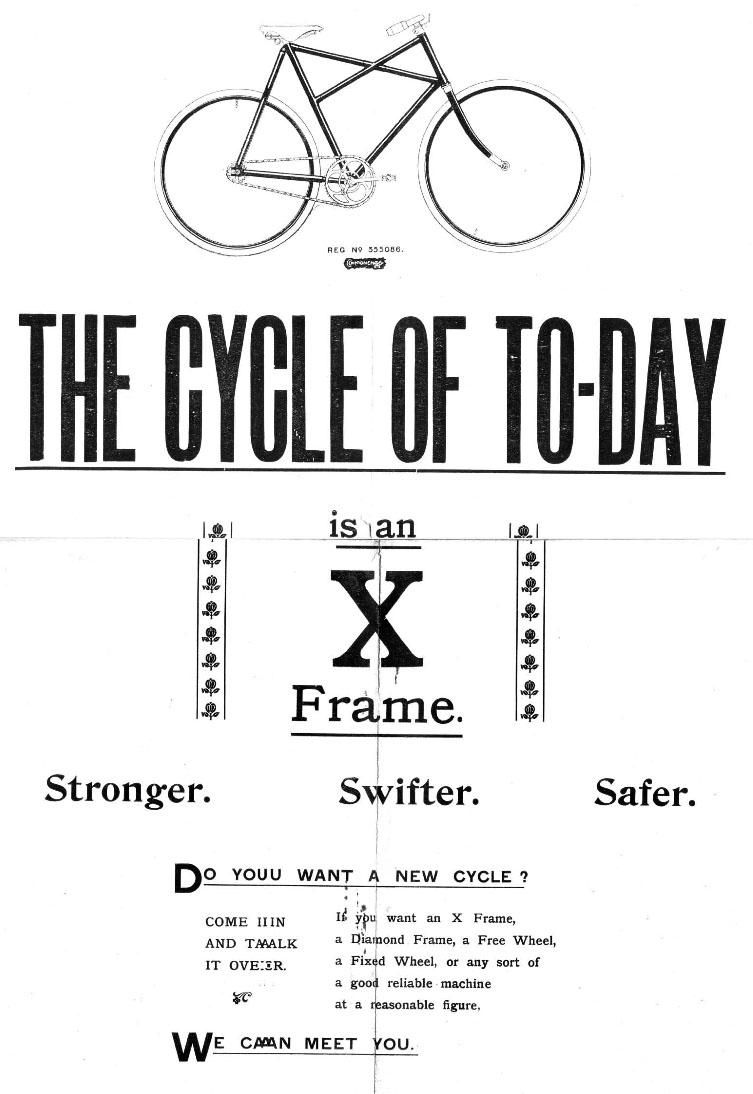 1908 components ltd cross frame