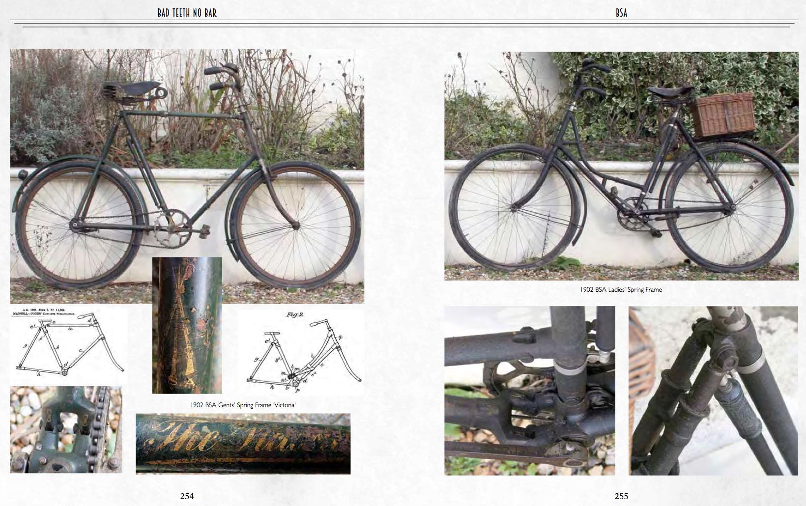 BAD TEETH NO BAR WW1 MILITARY BICYCLE BOOK - BSA SPRINGFRAME