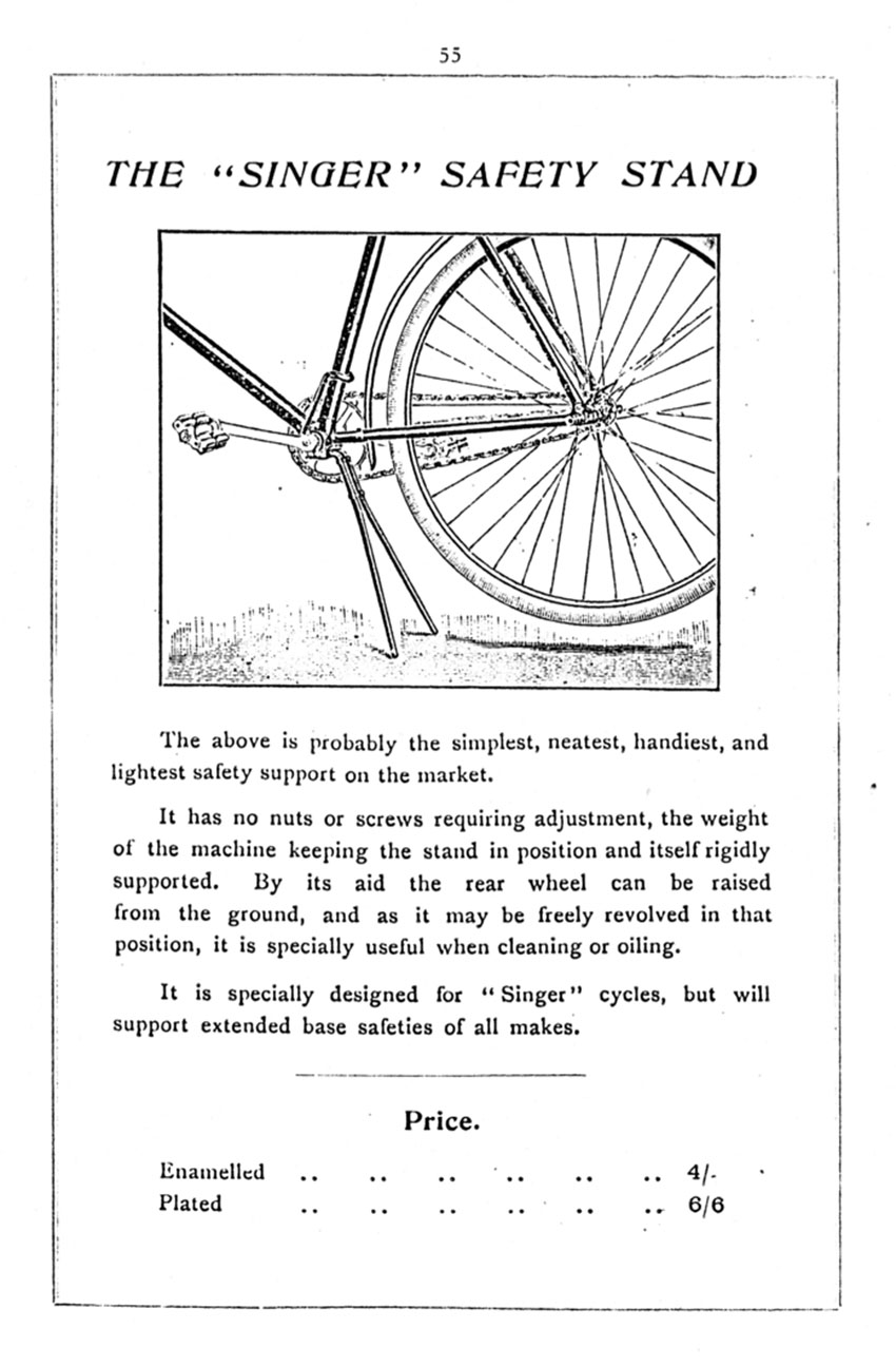 1896 Singer Safety Stand