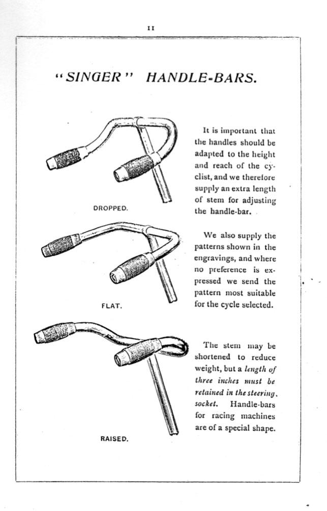 1896 singer handlebars