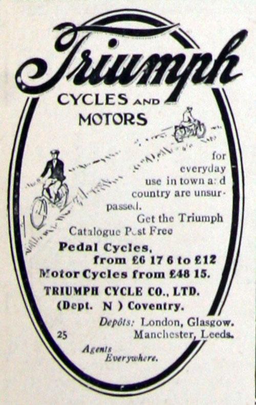 1911 triumph ad