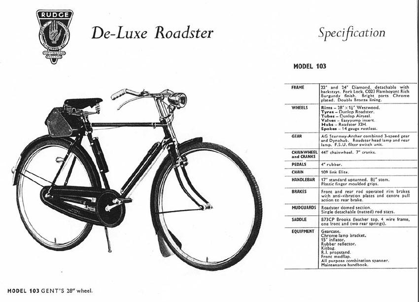 1960s Rudge Whitworth catalogue 1