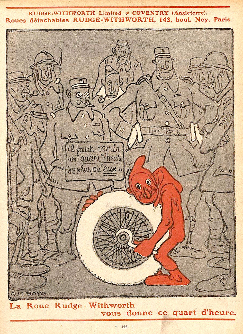 rudge wheels french ad