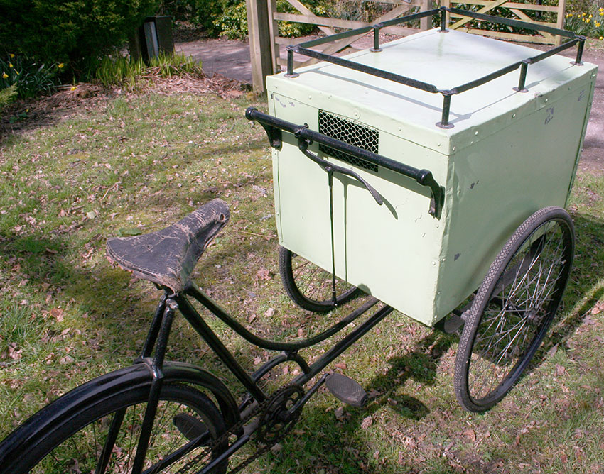 1919 Brown Brothers Dog Catcher Carrier Tricycle