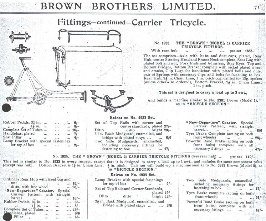 1919 'Brown' Dog Catcher Carrier Tricycle 08