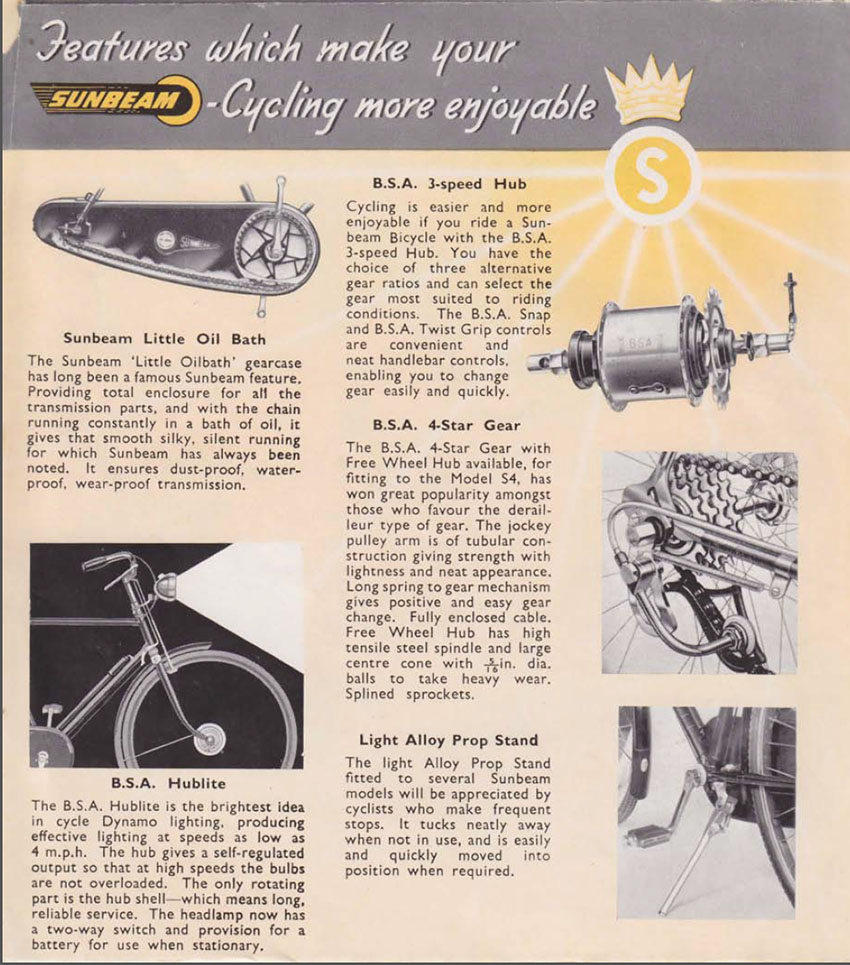 1951 bsa sunbeam catalogue