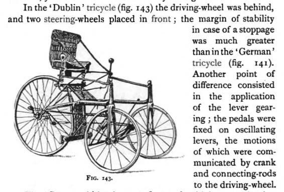 archibald sharp DUBLIN TRICYCLE