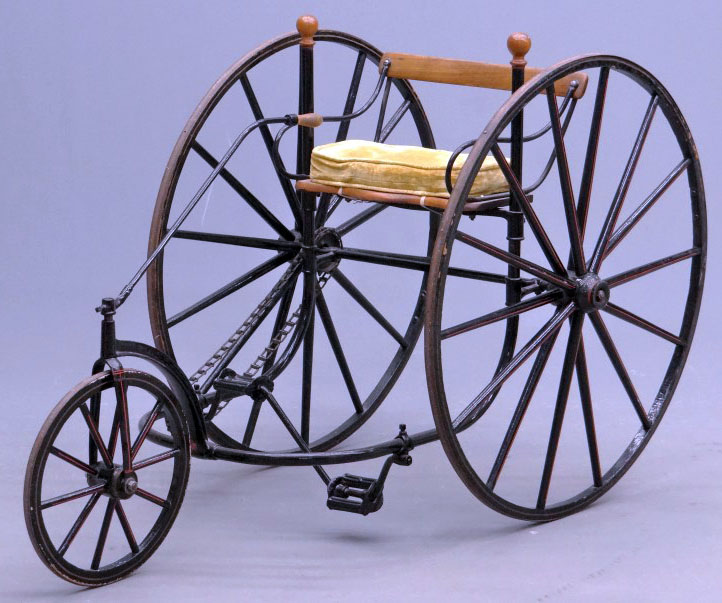 1870s Tiller & Treadle Adult Tricycle 01
