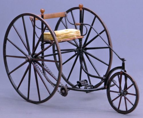 1870s Tiller & Treadle Adult Tricycle 05