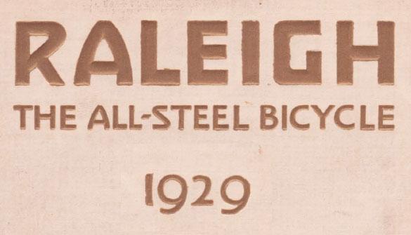 1929 RALEIGH CATALOGUE 0