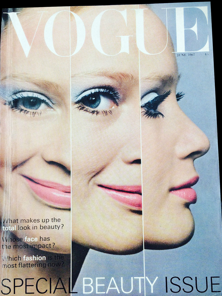 VOGUE JUNE 1967 TWIGGY RALEIGH WISP