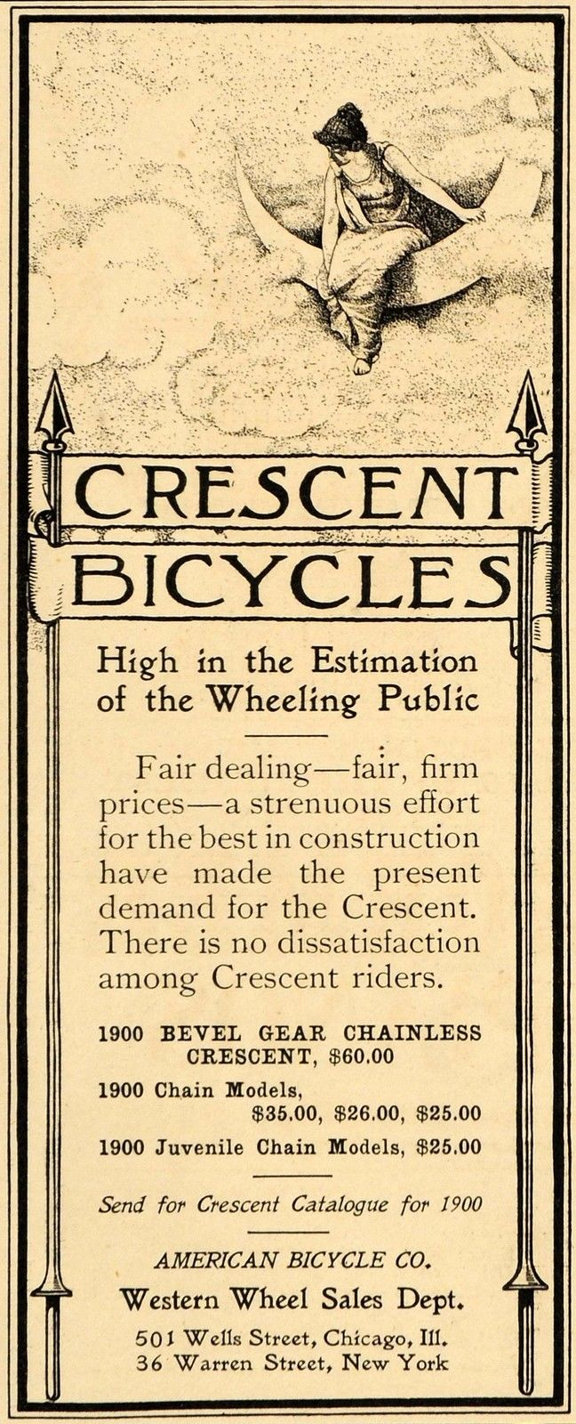 crescent chainless
