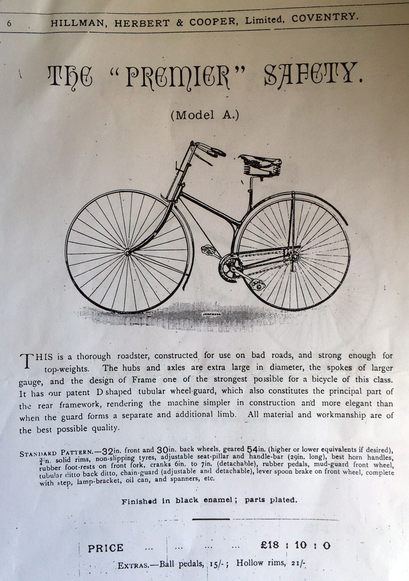 1887 Premier cross frame model A