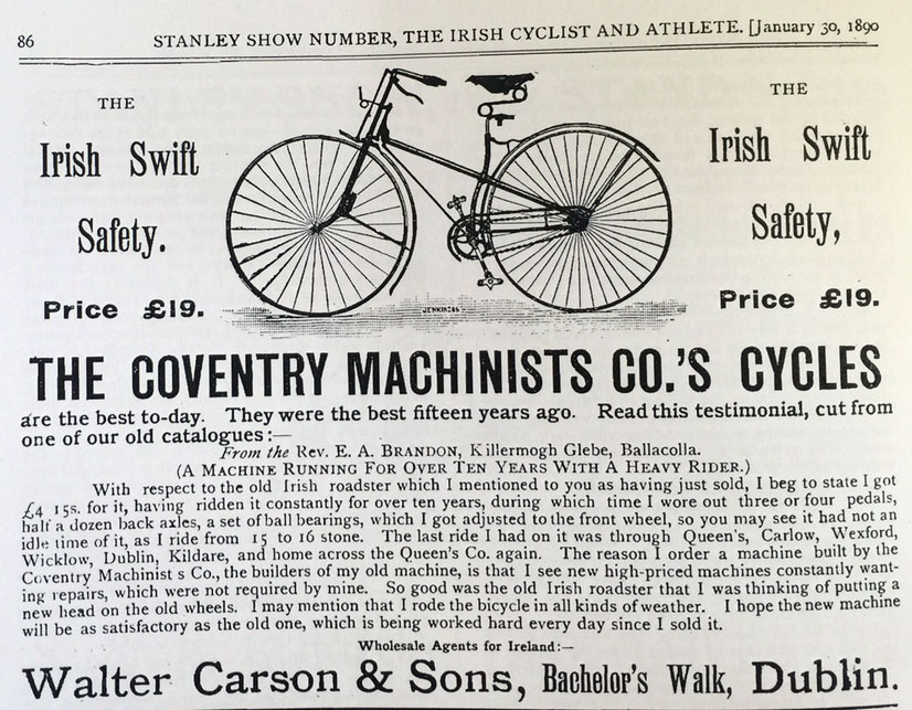 1889 irish swift safety