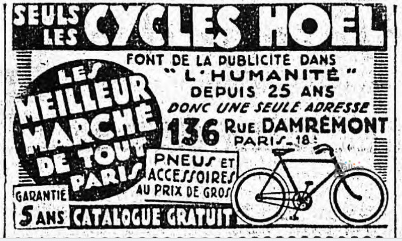 1939 hoel cycles