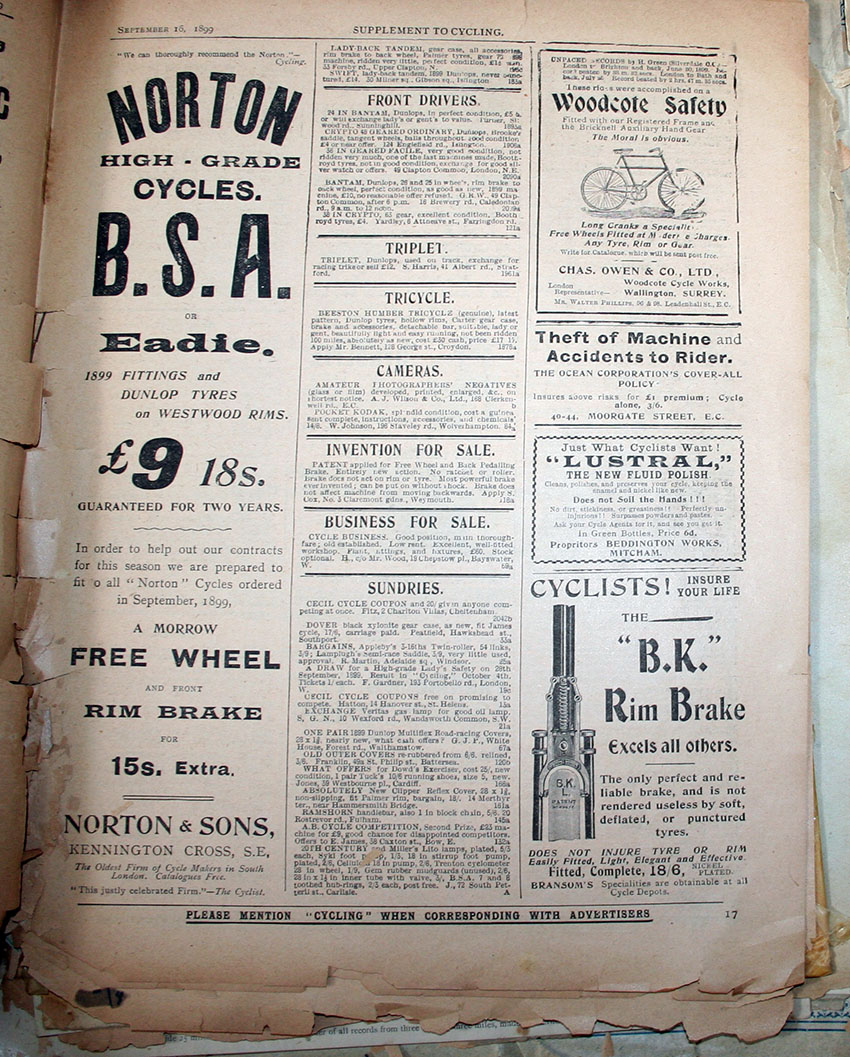 1899 norton bsa morrow copy