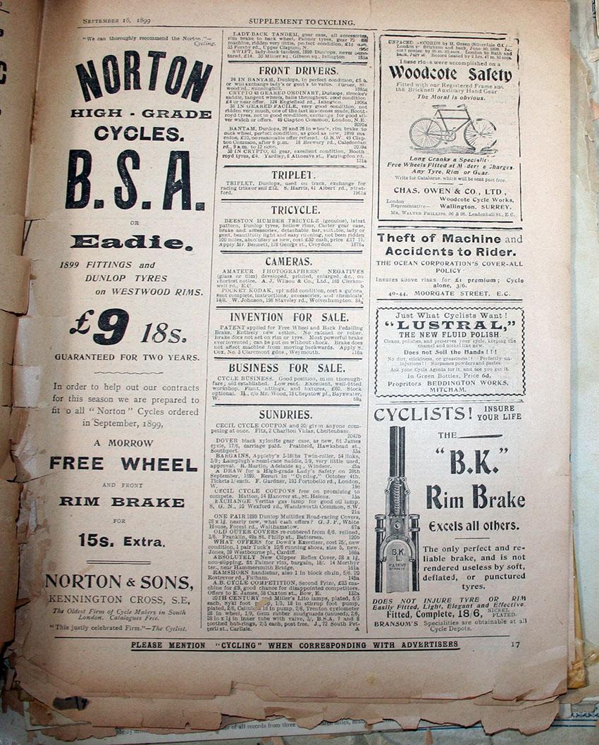 1899 norton bsa morrow copy