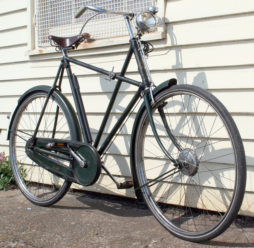 1934 Raleigh Tourist X Frame Green Enamel U54463 The Online