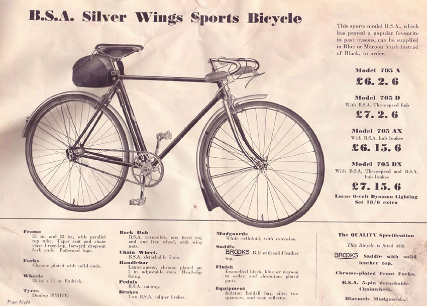 1937 BSA SILVER WINGS