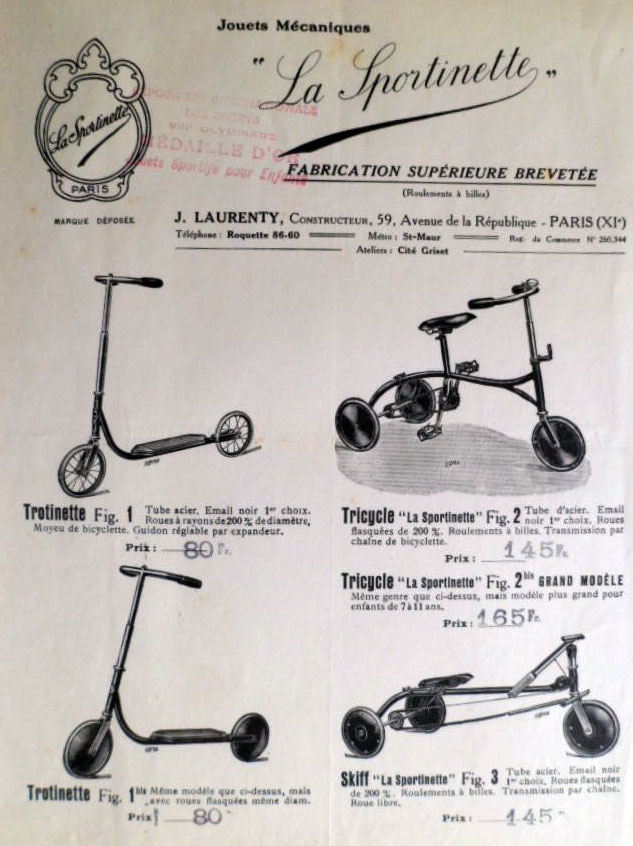 Tricycle La Sportinette Laurenty Paris