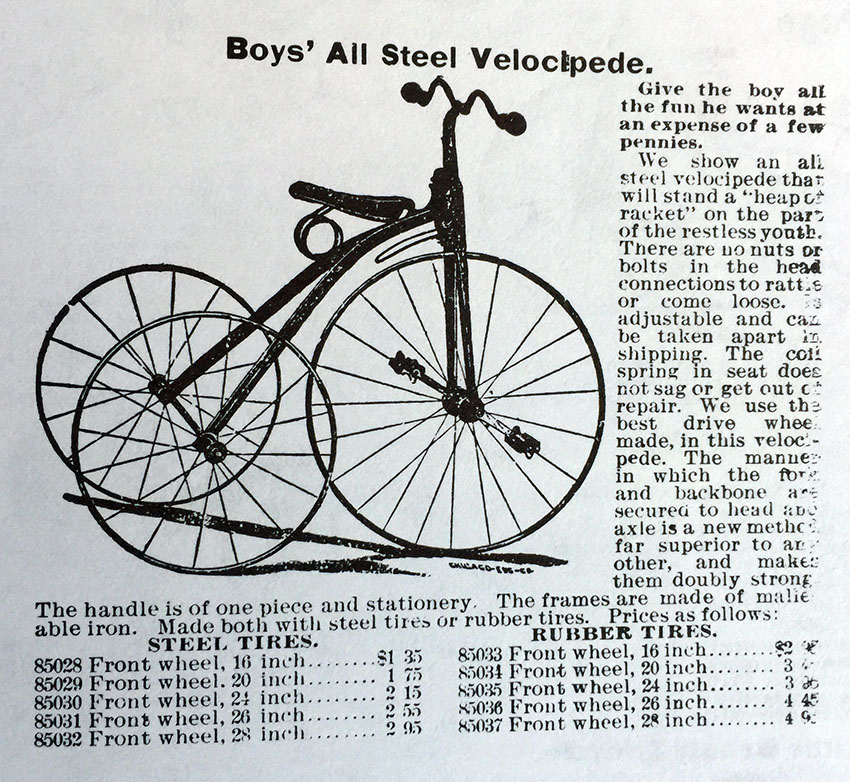 1895 Boy's Velocipede Tricycle copy