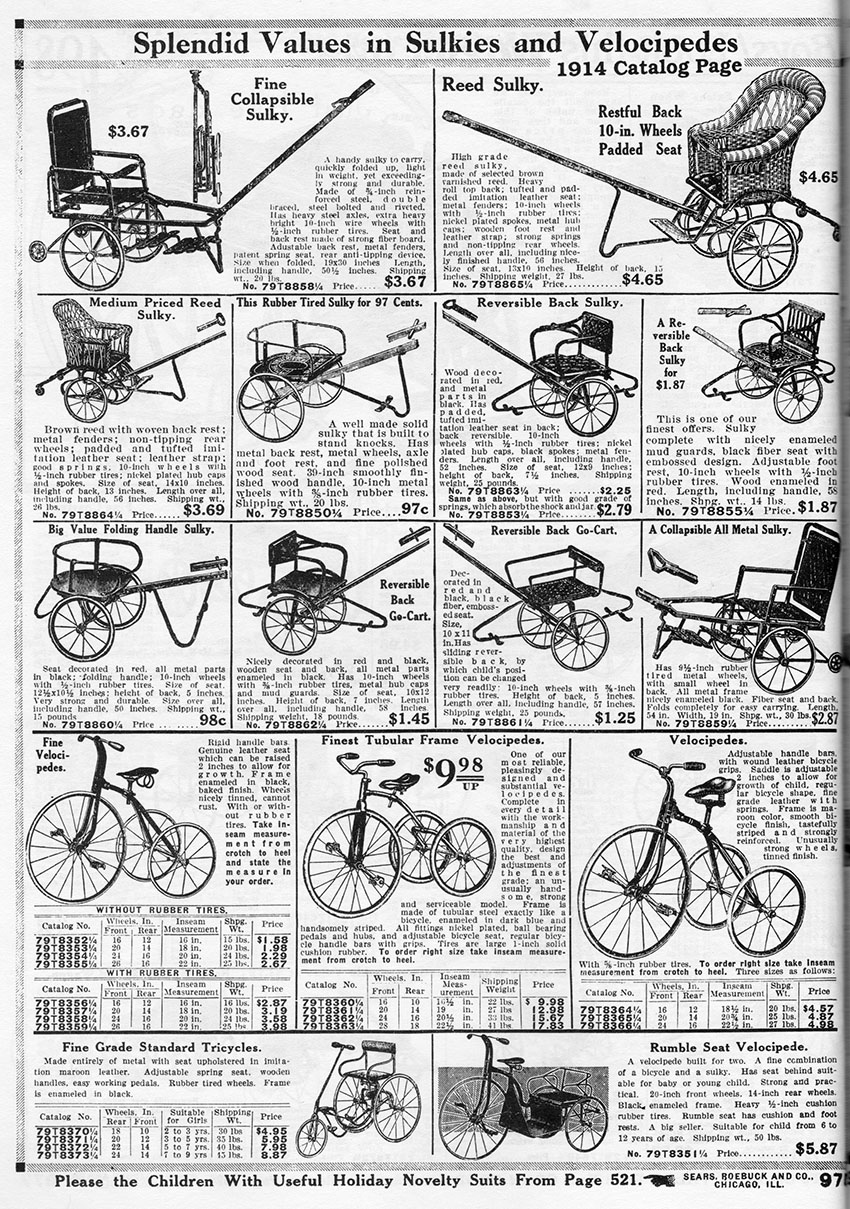 THE EVOLUTION OF CHILDREN'S TRICYCLES: 1800s-1920s – The Online