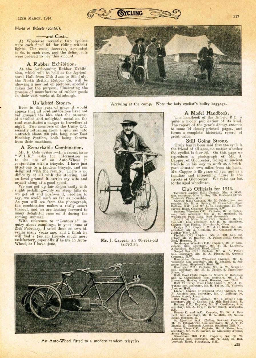 1914 autowheel tandem trike