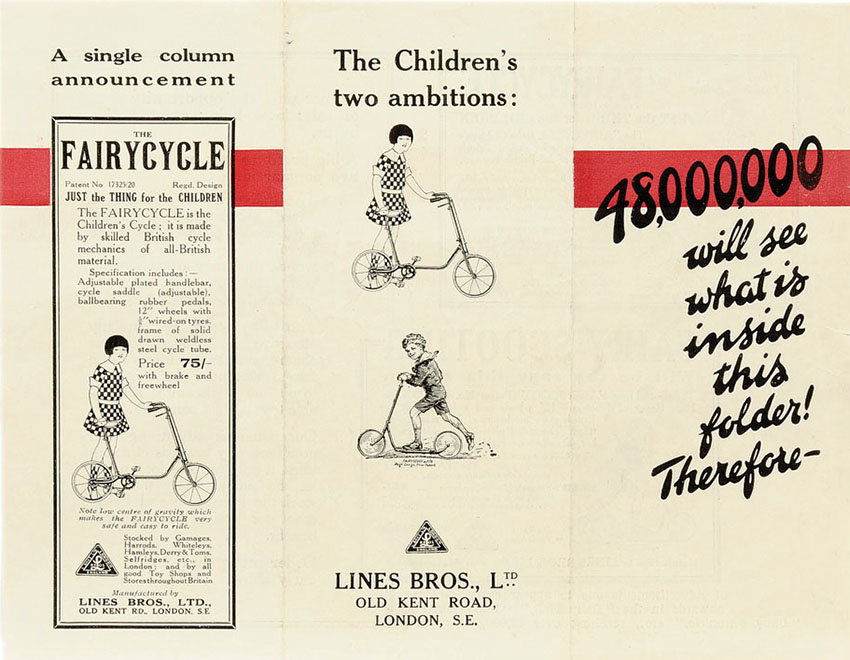 1922 Lines Bros Triangtois Tricycle 28