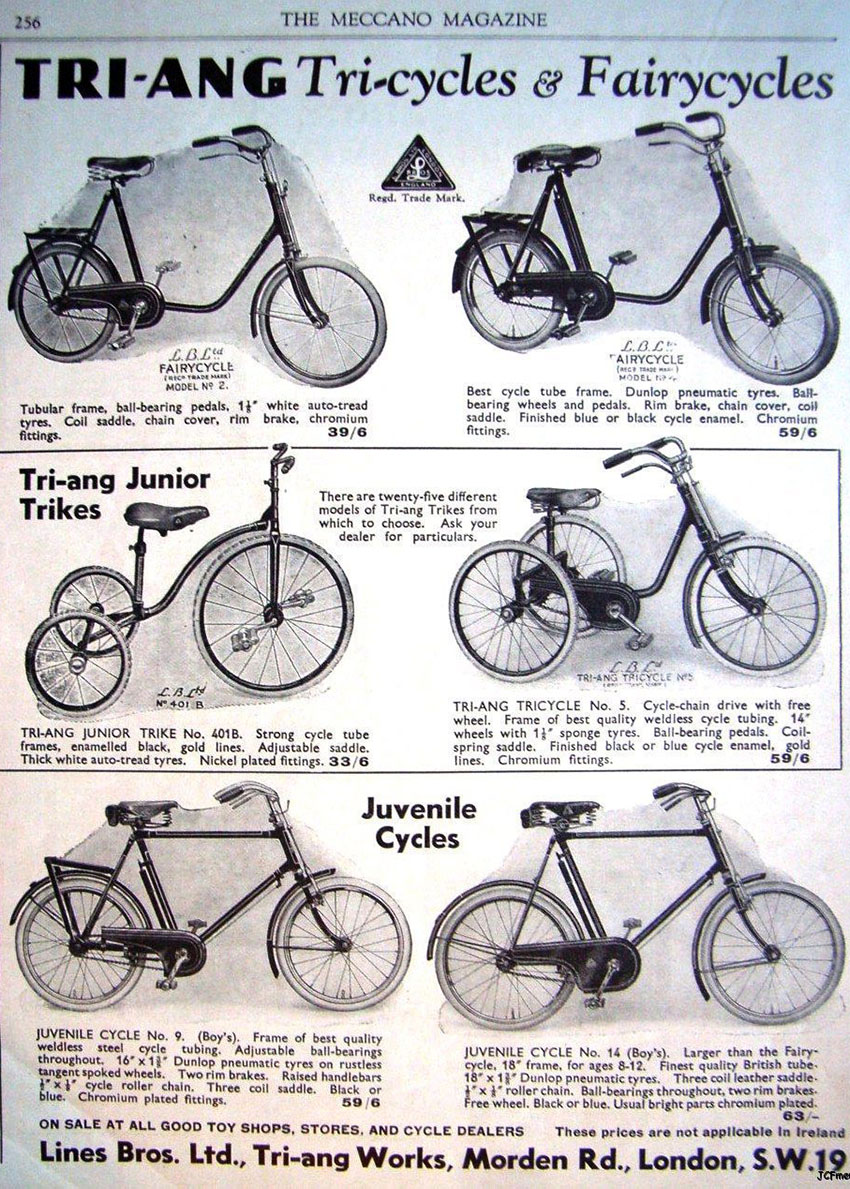 1934 lines bros triang